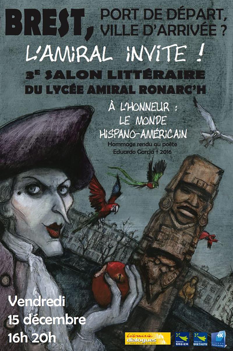 Les Lutins Urbains au Salon littéraire du Lycée Amiral Ronarc'h Brest 2017