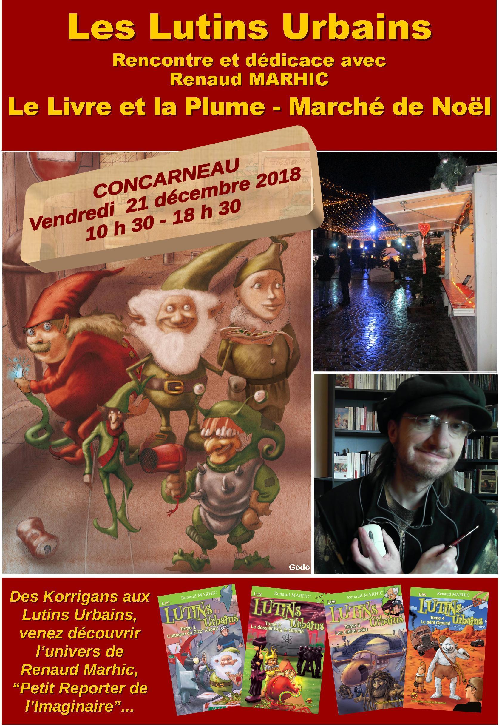 Les Lutins Urbains au Marché de Noël de Concarneau