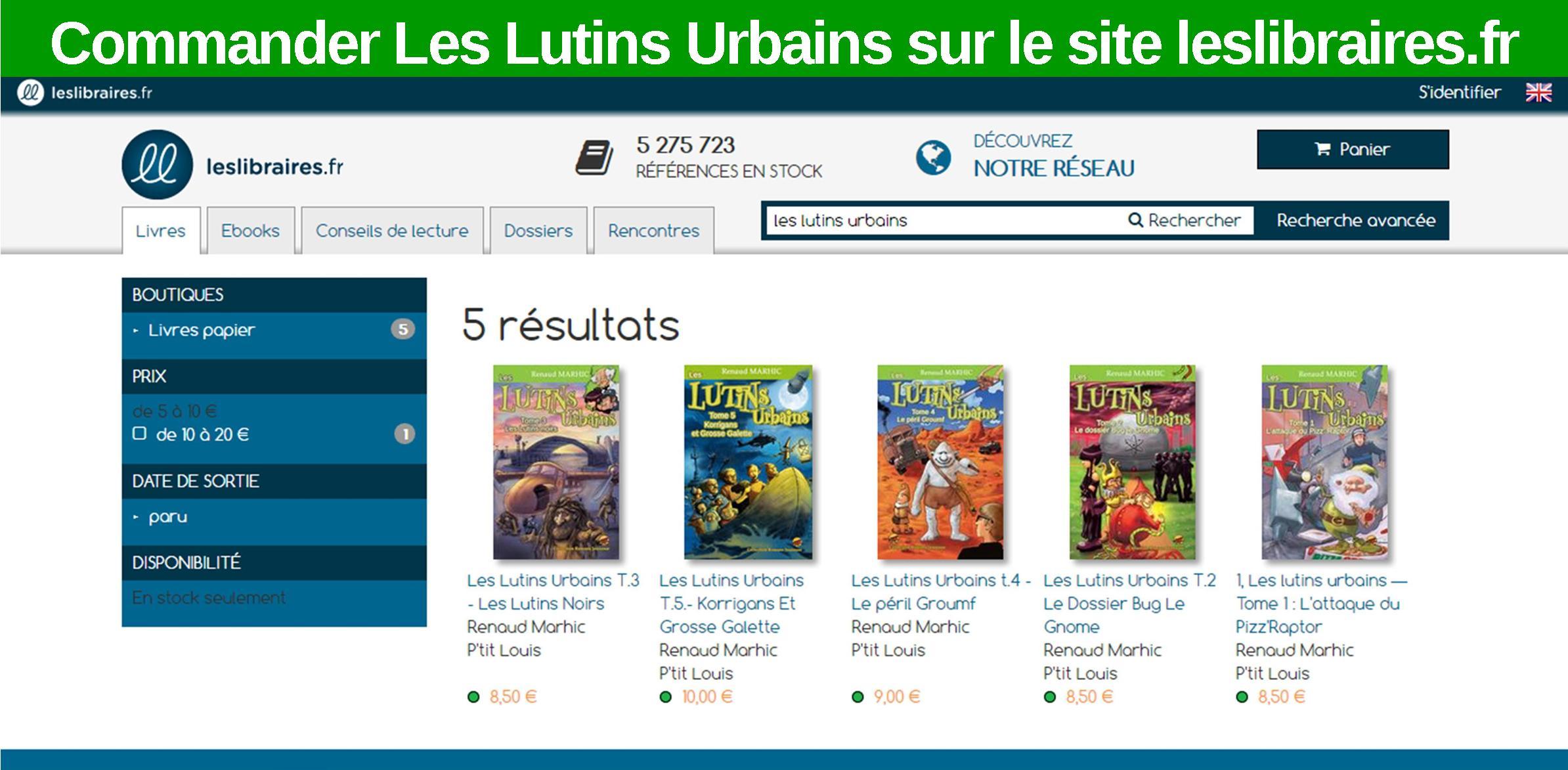 Commander les Lutins Urbains sur le site leslibraires.fr