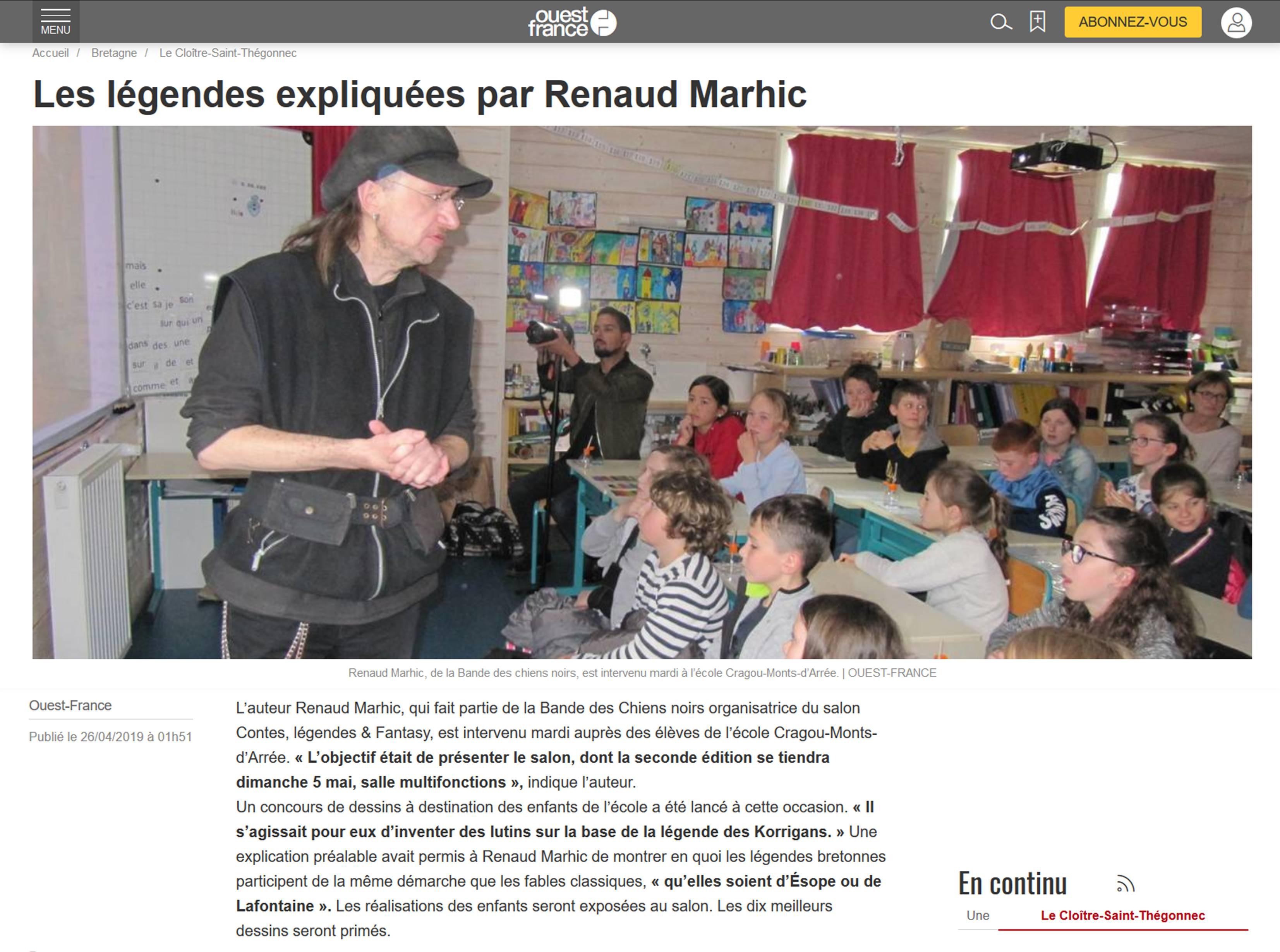 Renaud Marhic et les Lutns Urbains à l'École Cragou Monts d'Arrée