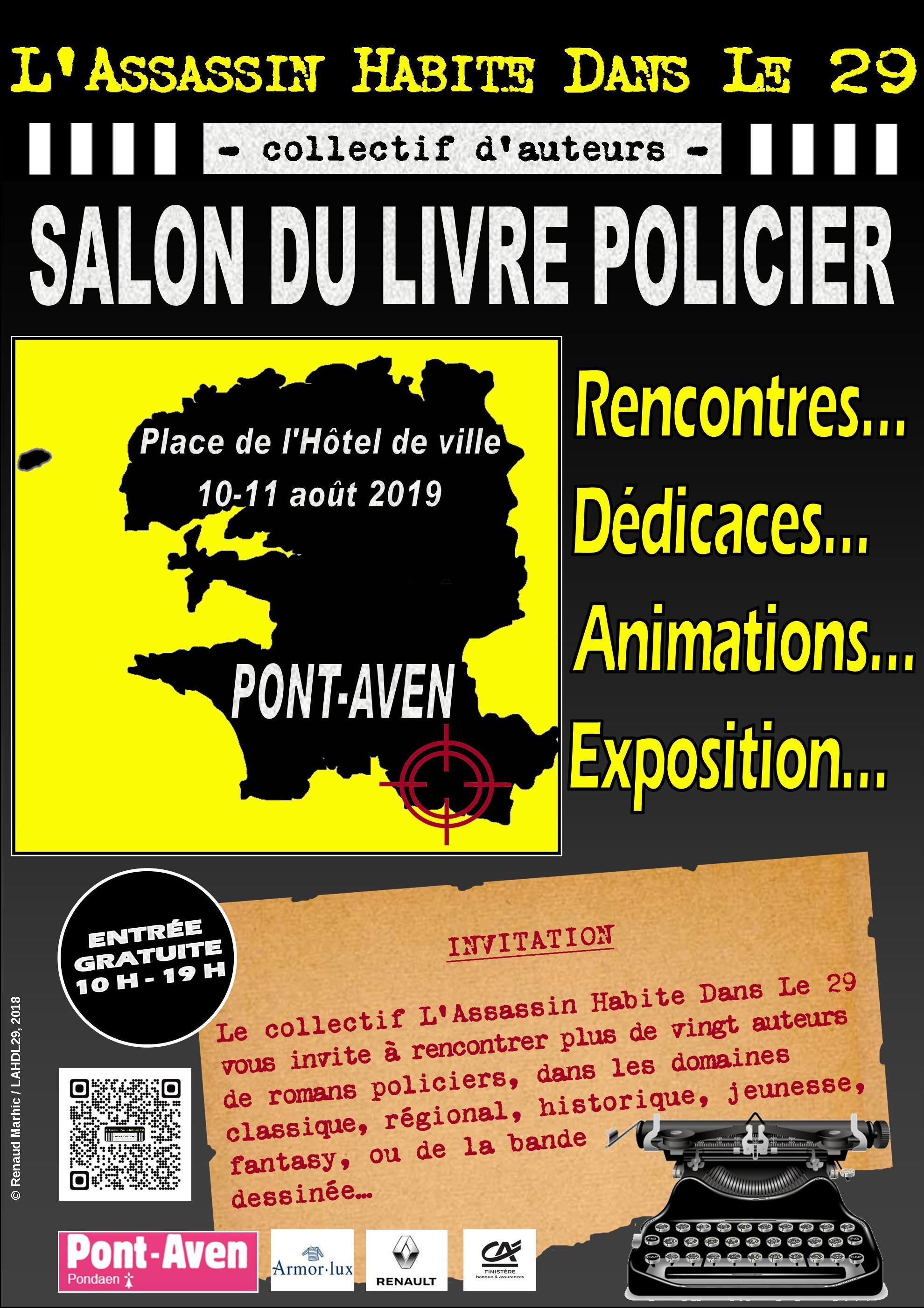 Les Lutins Urbains au salon du Livre Policier de L'Assassin Habite Dans Le 29 à Pont-Aven 2019