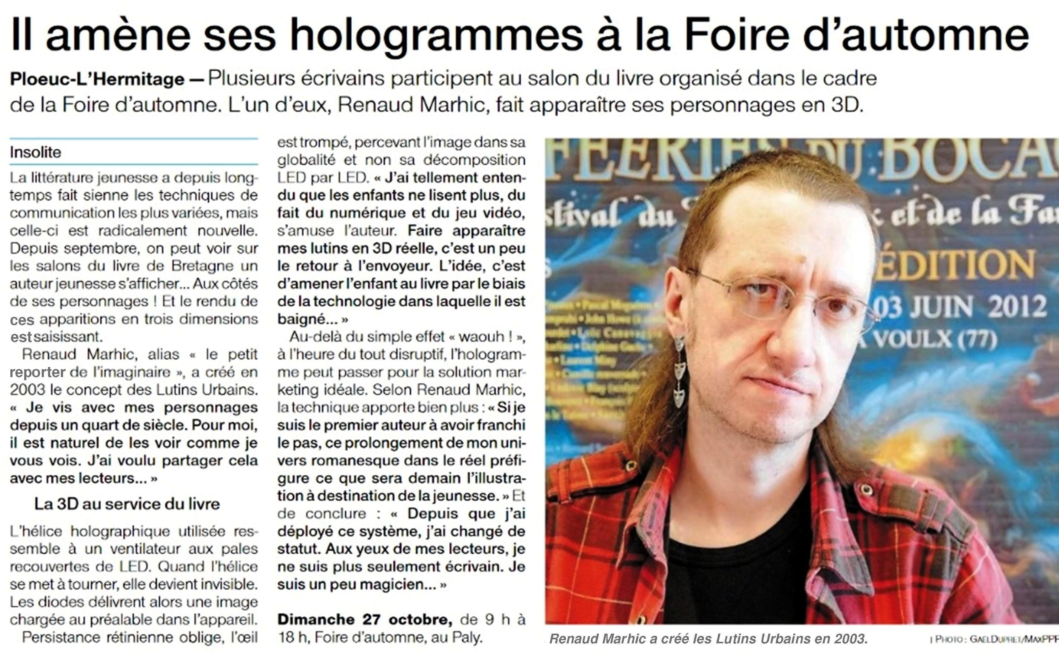 Petit Reporter de l'Imaginaire : dans le journal à Plœuc-L'Hermitage