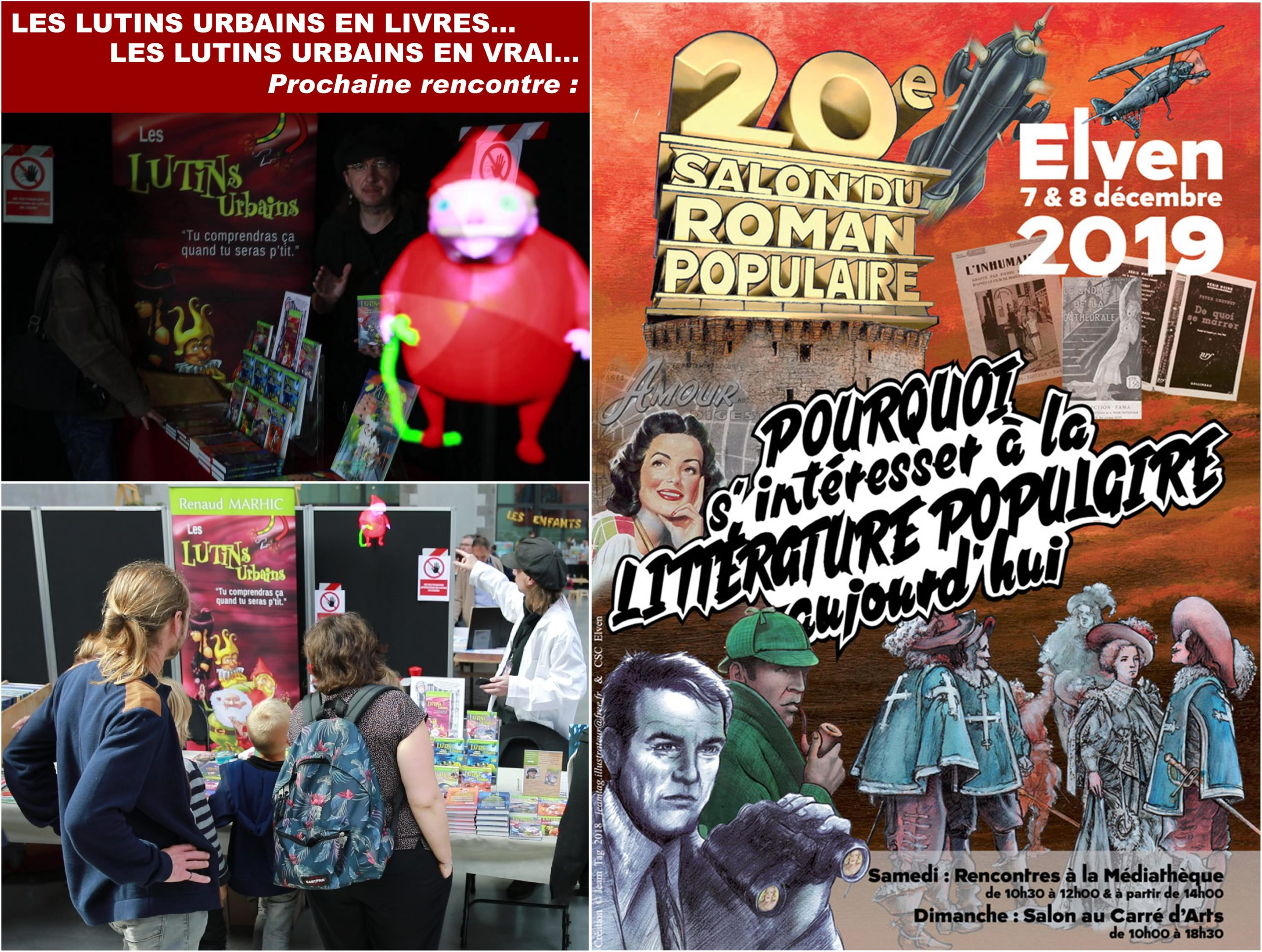 Les Lutins Urbains au Salon du Roman Populaire d'Elven 2019