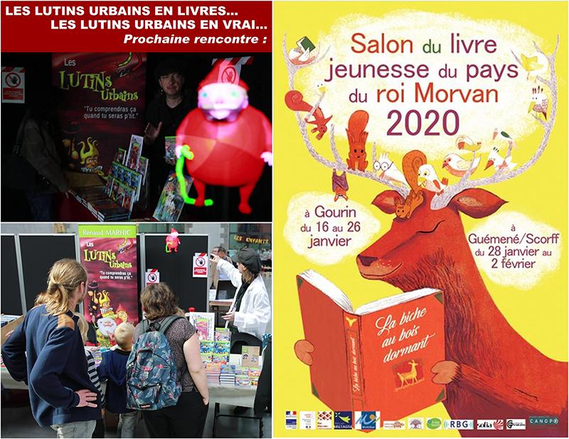 Les Lutins Urbains au Salon du livre jeunesse du pays du Roi Morvan 2020