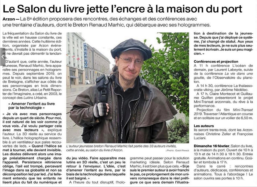 Petit Reporter de l'Imginaire : dans le journal à Arzon