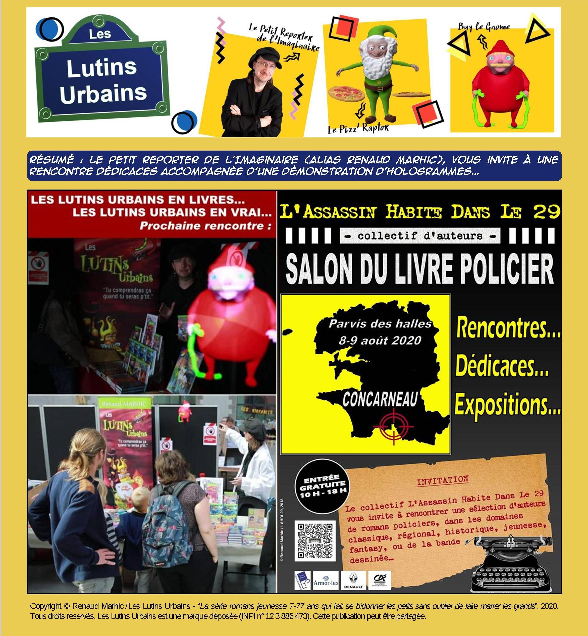 Les Lutins Urbains au salon du Livre Policier de L'Assassin Habite Dans Le 29 à Concarneau 2020