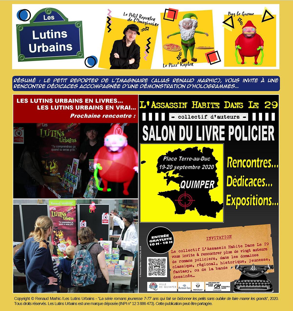 Les Lutins Urbains au Salon du Livre Policier de L'Assassin Habite Dans Le 29 à Quimper 2020