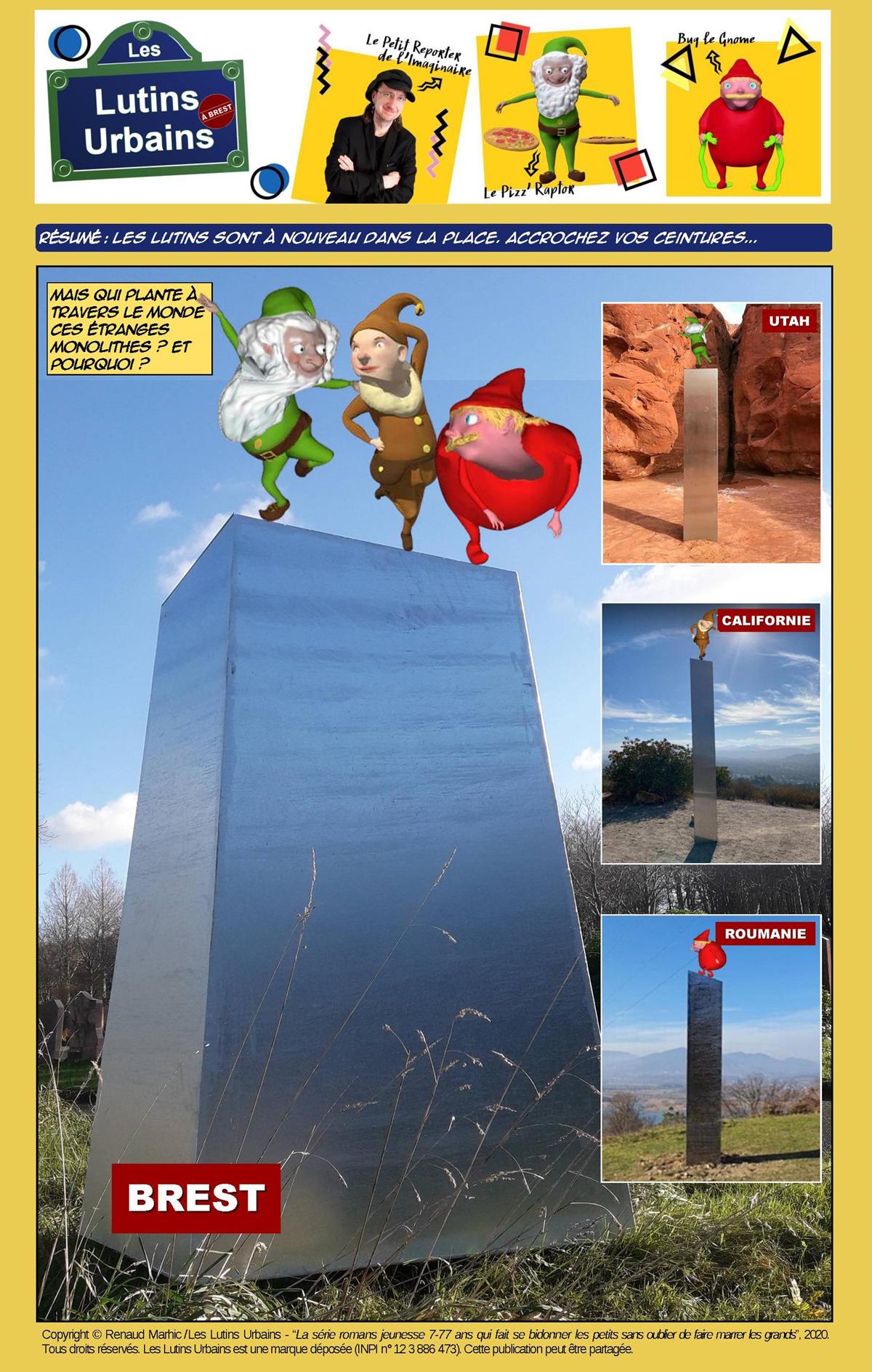 Les Lutins Urbains à Brest (4) : le mystère des monolithes enfin résolu !