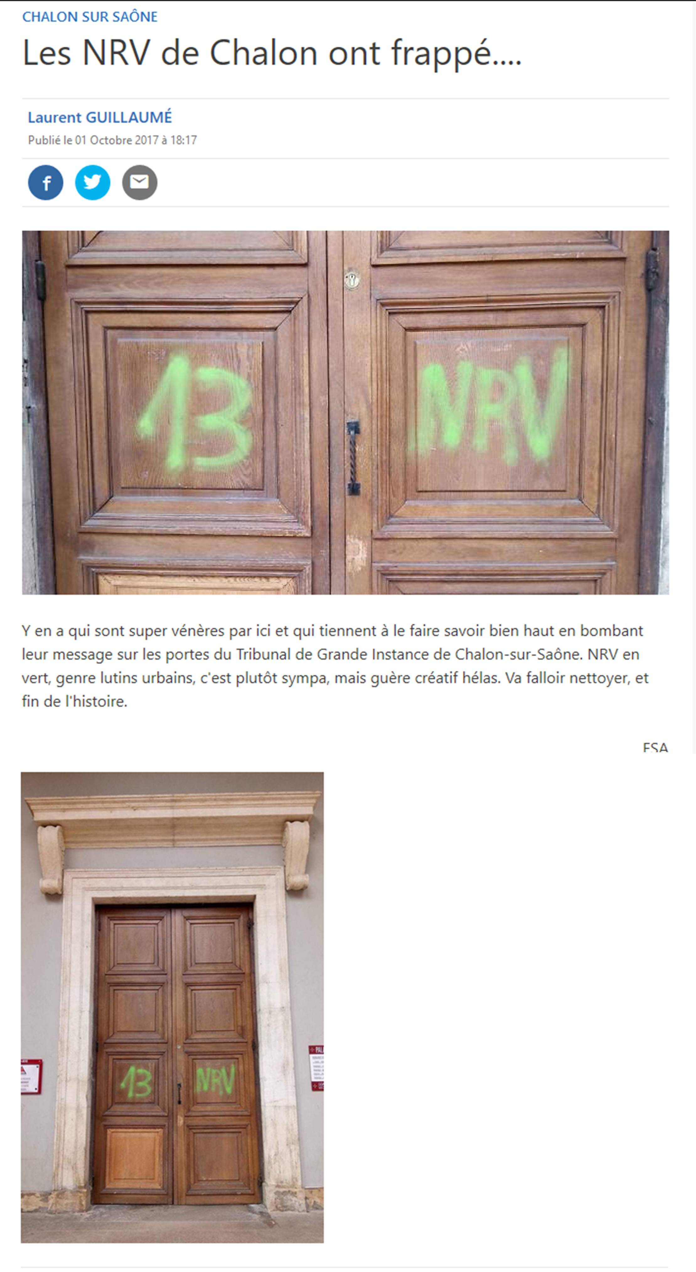 Chalon-sur-Saône : les Lutins Urbains pas NRV pour deux sous