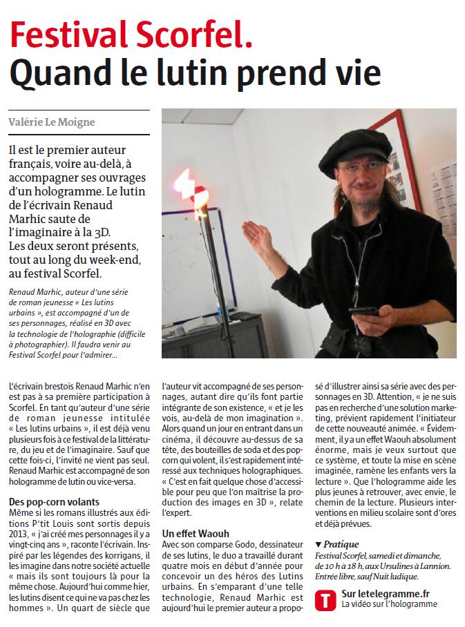 Petit Reporter de l'Imaginaire : dans le journal à Lannion