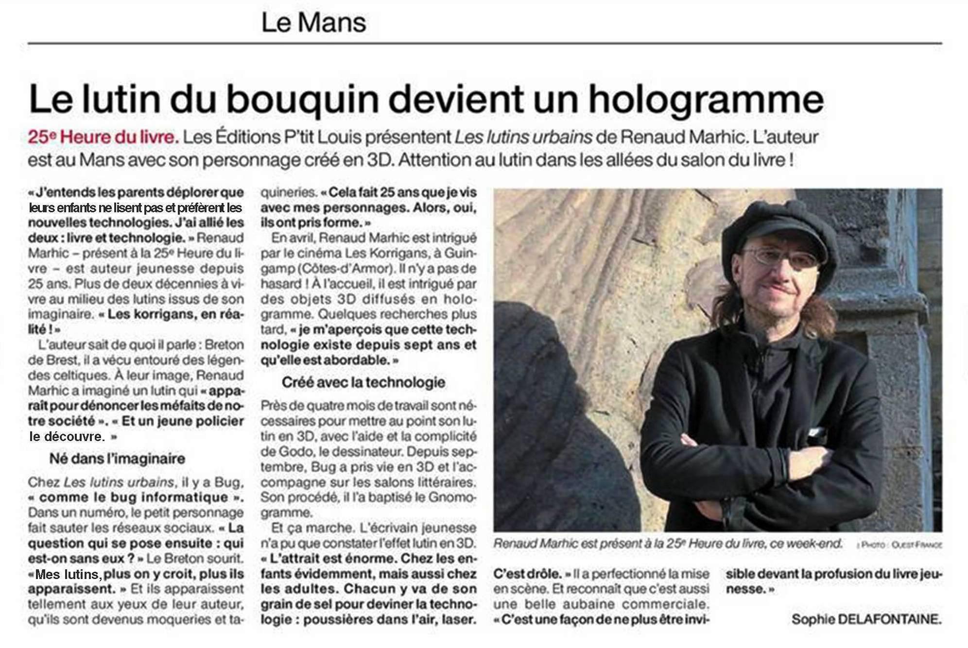 Petit Reporter de l'Imaginaire : dans le journal au Mans