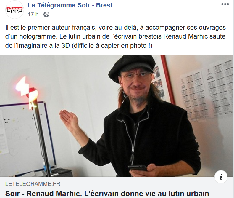 """Petit Reporter de l'Imaginaire : coup double dans """"Le Télégramme Soir"""""""