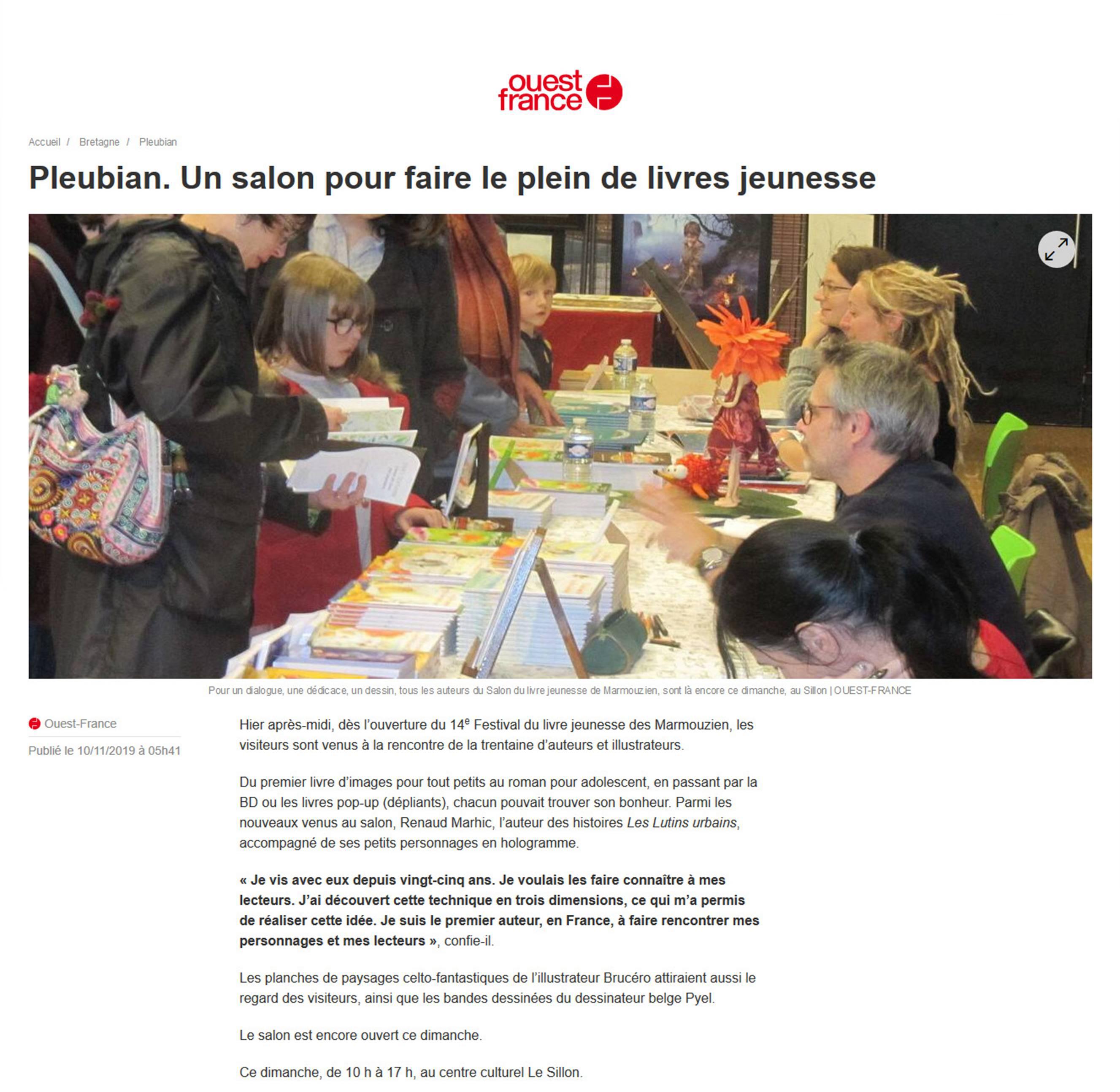 Petit Reporter de l'Imaginaire : dans le journal (encore) à Pleubian