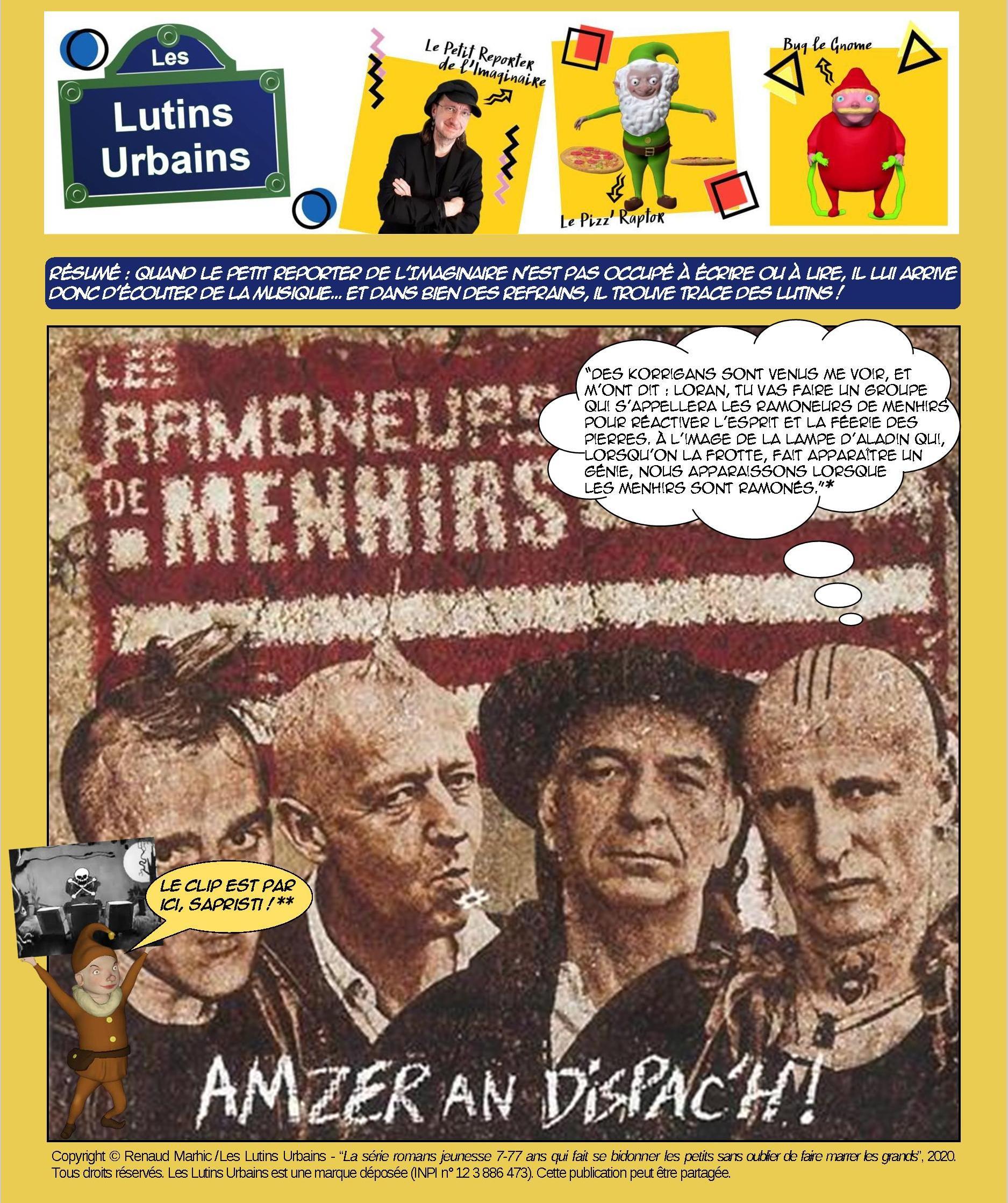 Petit Reporter de l'Imaginaire – Des musiciens et des lutins (11) : Les Ramoneurs de Menhirs